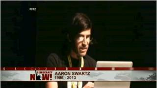 We air an address of Swartz's from last May where he speaks about the battle to defeat the Stop Online Piracy Act, or SOPA